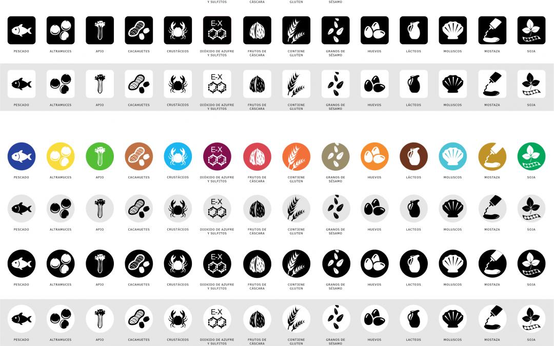 Iconos para alérgenos